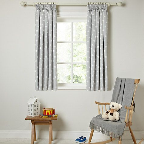 Buy little home at John Lewis Star Pencil Pleat Blackout Lined Curtains Online at johnlewis.com
