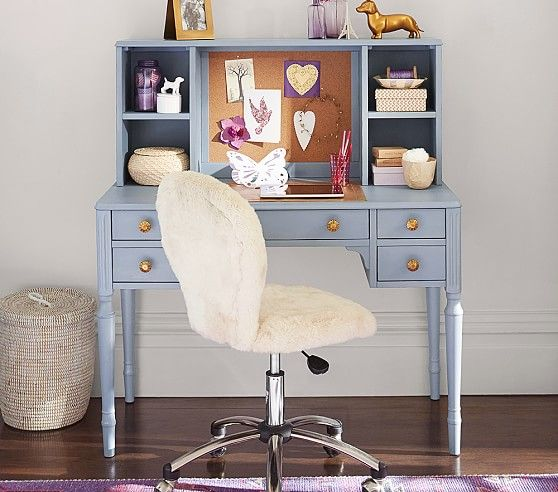 """Zoey Storage Desk & Hutch (sold separately) 