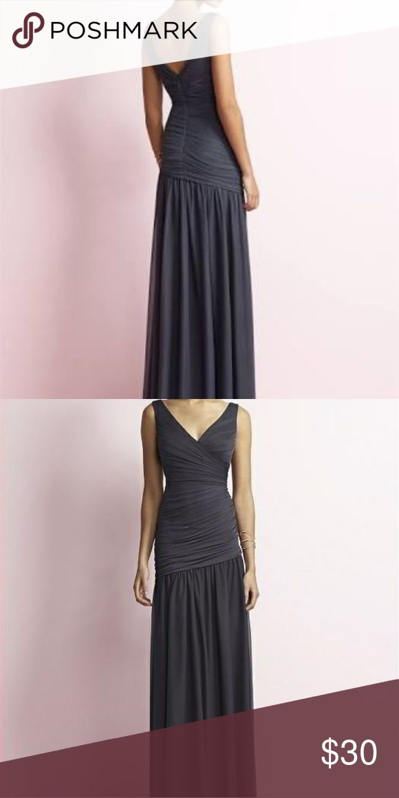 Bridesmaid gown Long evening dress in a beautiful onyx colour, with draped little details from the top to the hips, perfect to make your curves look amazing. Brand new with tags. Jenny Yoo Dresses Wedding