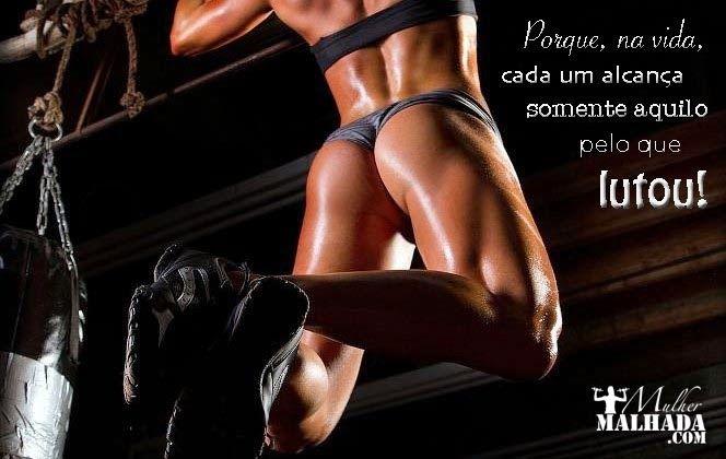 9 Banners com mensagens motivacionais fitness - musculação - academia - Mulher Malhada