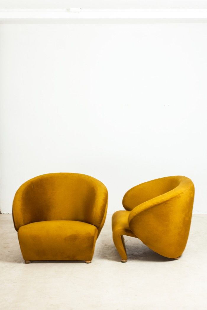 Sándor Bedécs; Lounge Chairs, 1970s.