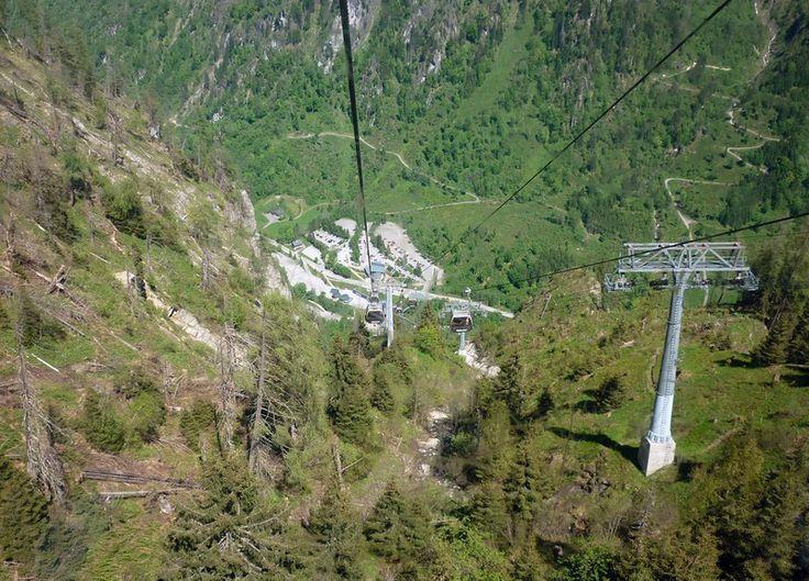 A Kitzsteinhorn felvonó alsó szakasza