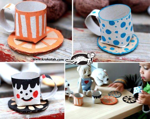 ESPAÇO EDUCAR: Brinquedo com sucata: caneca ou xícara feita com reciclagem de rolinho de papel higiênico
