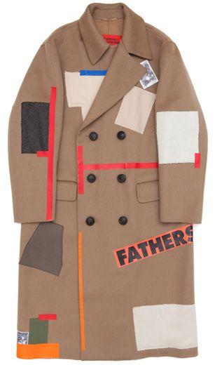 Raf Simons/Sterling Ruby, Camel Wool Patchwork Coat (Khaki)