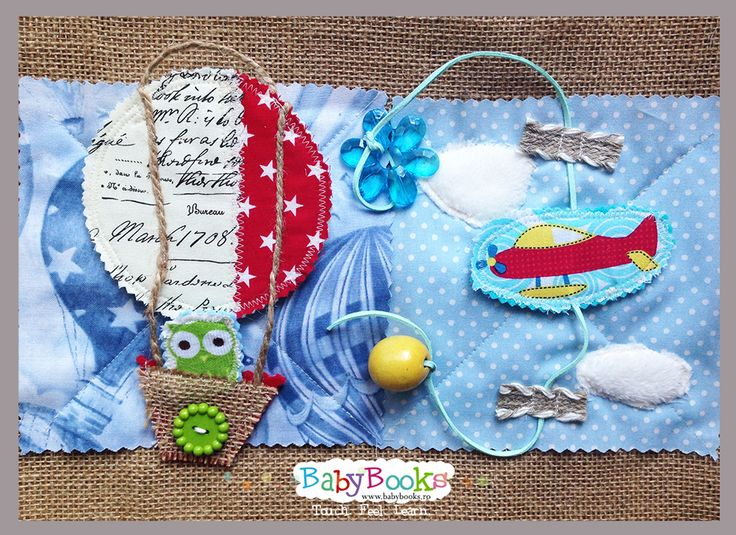 Flying baby activity pages.