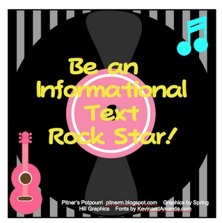 Be an informational text rock star free printable.Pitner Potpourri, Information Texts, Rocks Stars, Schools Stuff, Informational Texts, Texts Features, Texts Rocks, Third Grade, Common Cores