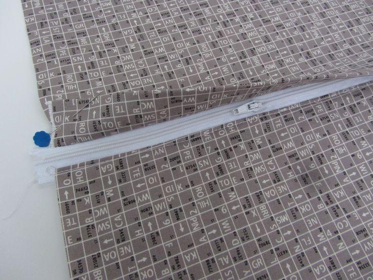 Kissen mit verdeckter Reißverschlussleiste - klasse Tutorial                                                                                                                                                                                 Mehr