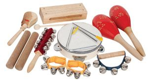 Percussion 9 Piece Set Wonderful selection and good quality percussion set.