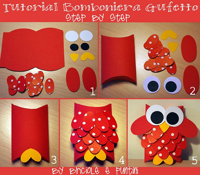 tutorial_bomboniera_gufetto_fai_da_te by Briciole e Puntini, via Flickr - I was looking for an owl for graduation ... will have to save for next year.