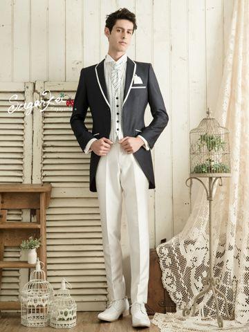 スタイリッシュに着こなせるモーニング。結婚式、花婿さんの参考にしたいモーニングのイメージ。 ウェディング・ブライダルの参考に