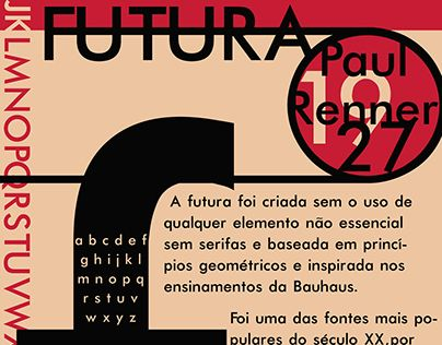 "Check out new work on my @Behance portfolio: ""Cartaz Fonte Futura"" http://be.net/gallery/53380857/Cartaz-Fonte-Futura"