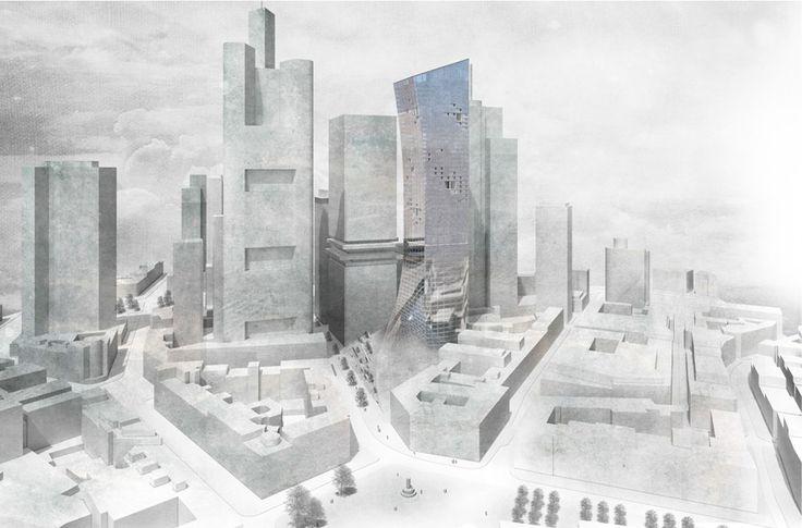 Abschlussarbeit: Hybrid Skyscraper Mainhattan , Lars Oberländer, Hochschule für Technik, Wirtschaft und Kultur Leipzig - Campus Masters | BauNetz.de