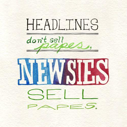 I LOVE this! #newsies