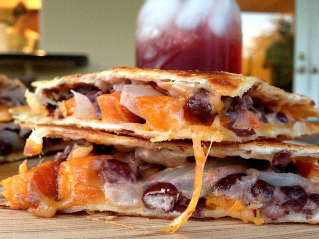 Roasted Sweet Potato, Black Bean and Goat Cheese Quesadillas | Recipe
