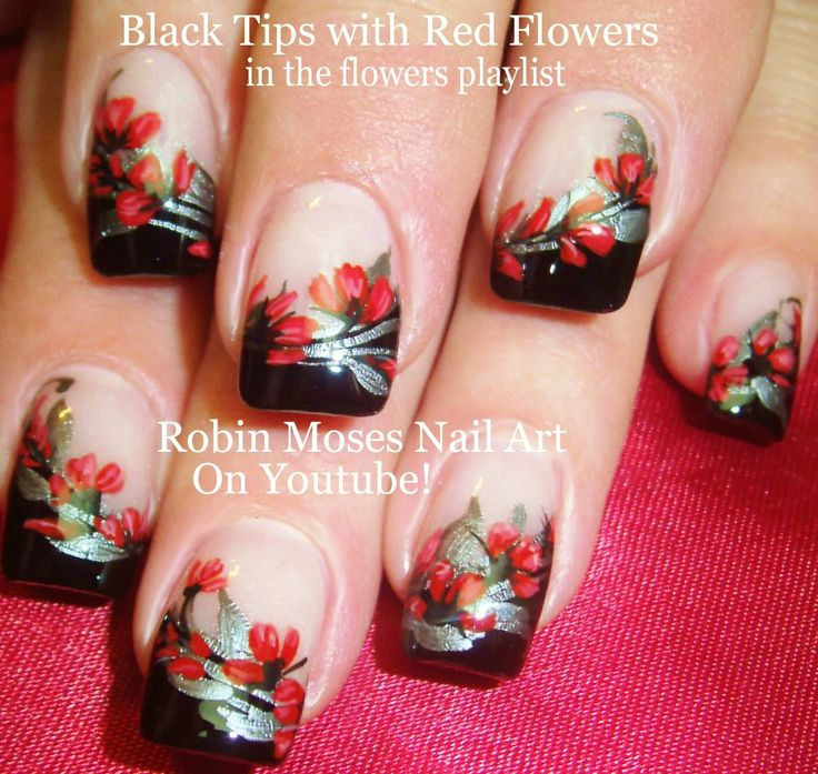 328 best flowers nail art pictures with tutorials images on nail art tutorial diy flower nail design gothic floral prinsesfo Gallery