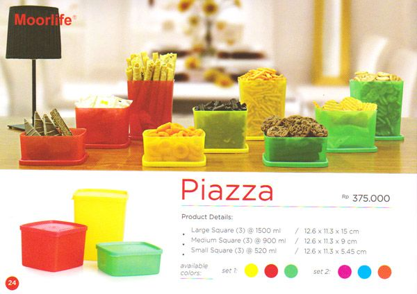 Moorlife piazza Square Rp. 375.000 1 set terdiri dari 9 pcs dengan 3 ukuran berbeda dan 3 pilihan warna