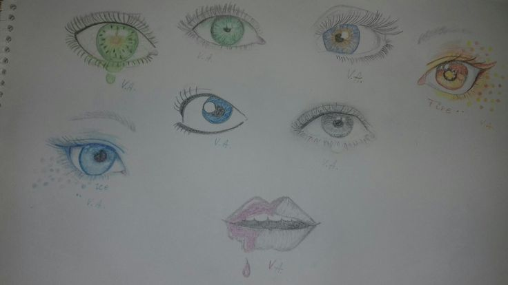 Trying some eyes drawing