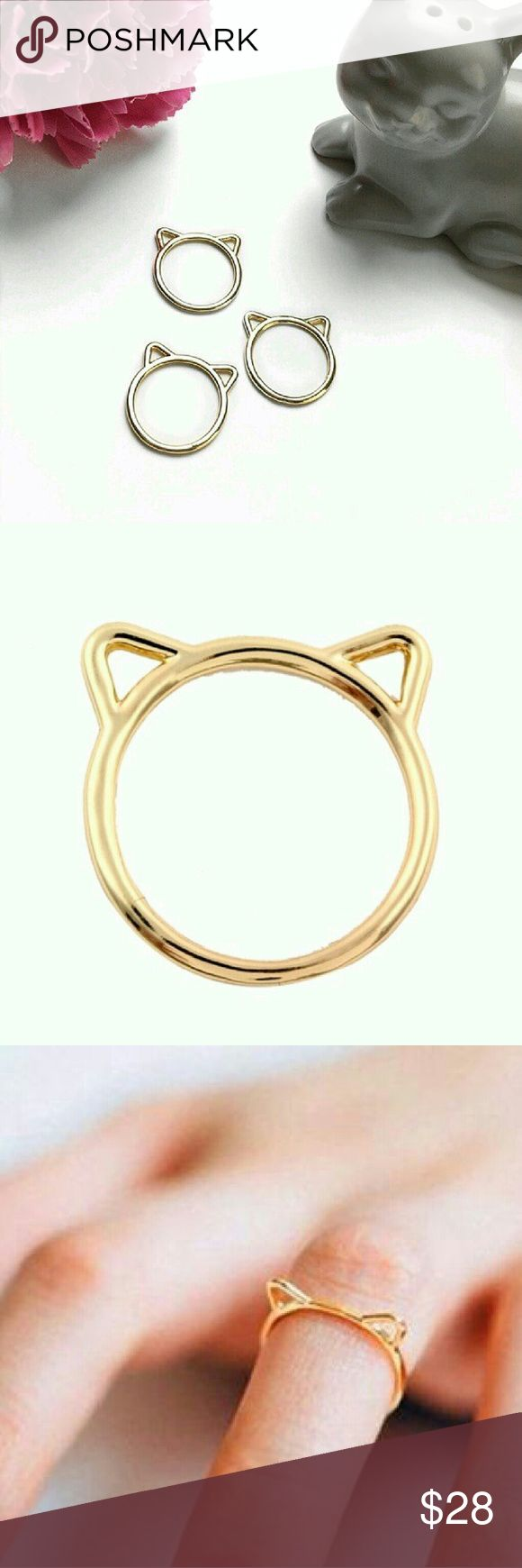 14K Kitty Kat Ring 14K gold cat / kitty ears ring from WILA.  Currently 5 available in Size 7. Hurry and get one meow! WILA Jewelry Rings