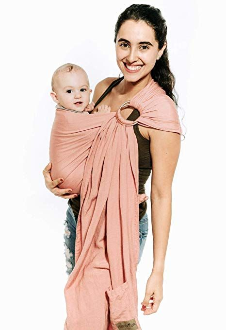 a6d58988d79 Amazon.com   Luxury Ring Sling Baby Carrier - Extra Soft Bamboo   Linen  Fabric