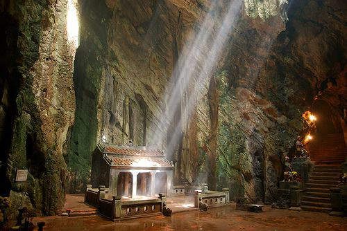 Marble Mountains close to Hoi An in Central Vietnam. Vietnam.
