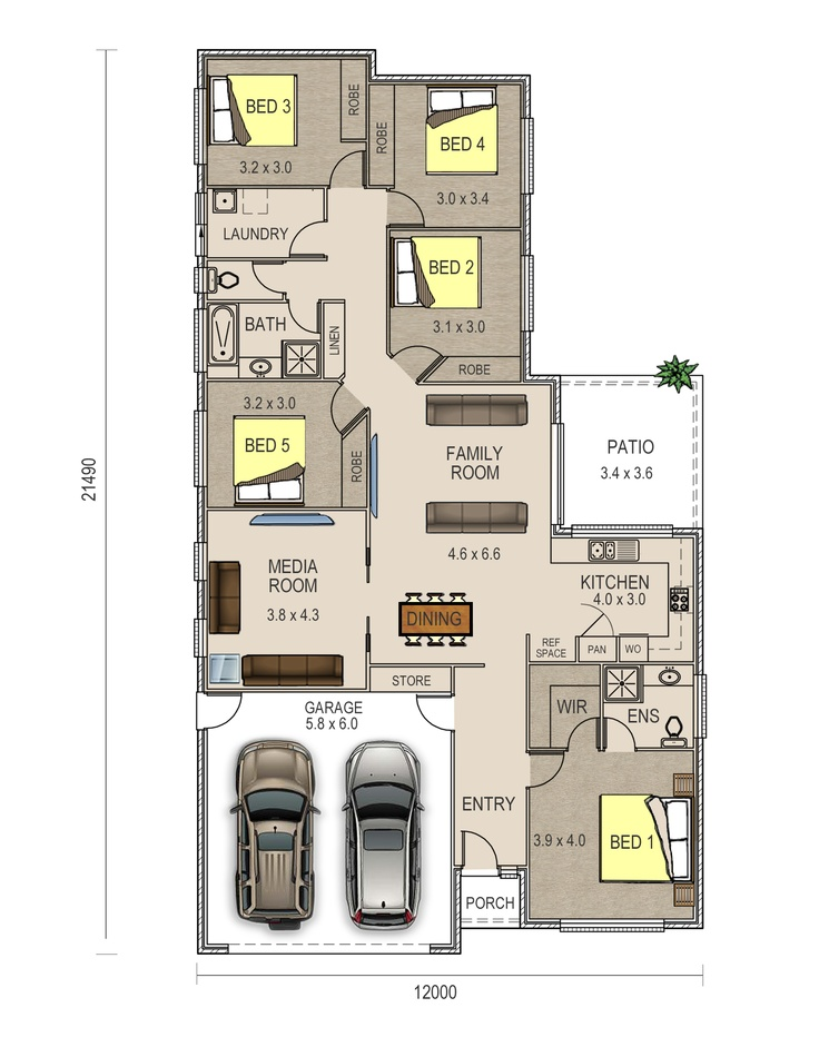 Piper Floor Plan Has A Double Garage And A Very Spacious