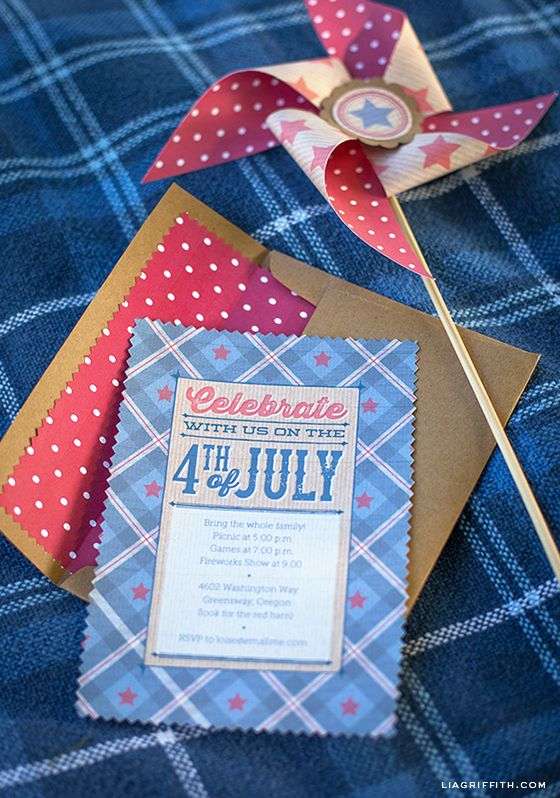Adorable Printable Fourth of July Invitations