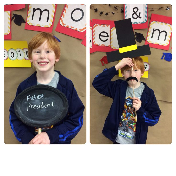 College and Career Month Photo Booth for my elementary school