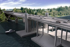 SR 520 Floating Bridge Construction to Begin on Lake Washington - Olympia, WA - Replacement of the world's longest floating bridge will begin visibly on Lake Washington this week as construction crews move barges and heavy equipment into position north of the aging State Route 520 bridge. Today, the Washington State Department of Transportation and contractor...