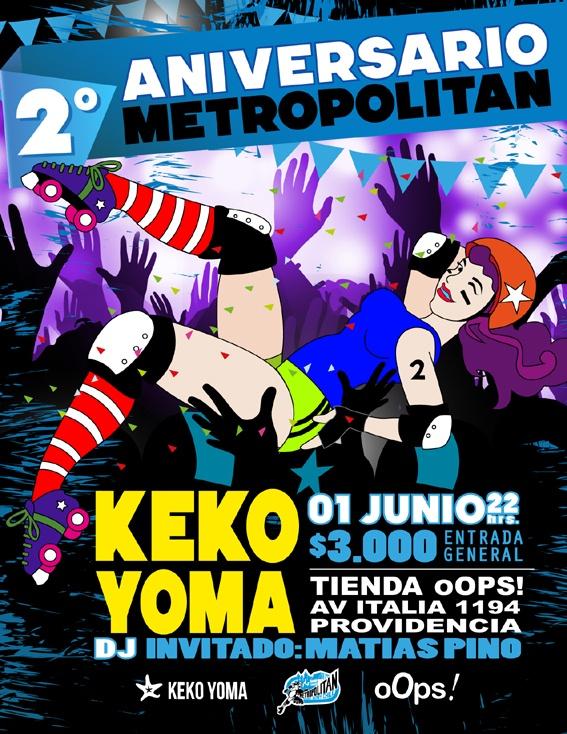Afiche de nuestra fiesta aniversario 2013.  Gráfica: Francia Prado.