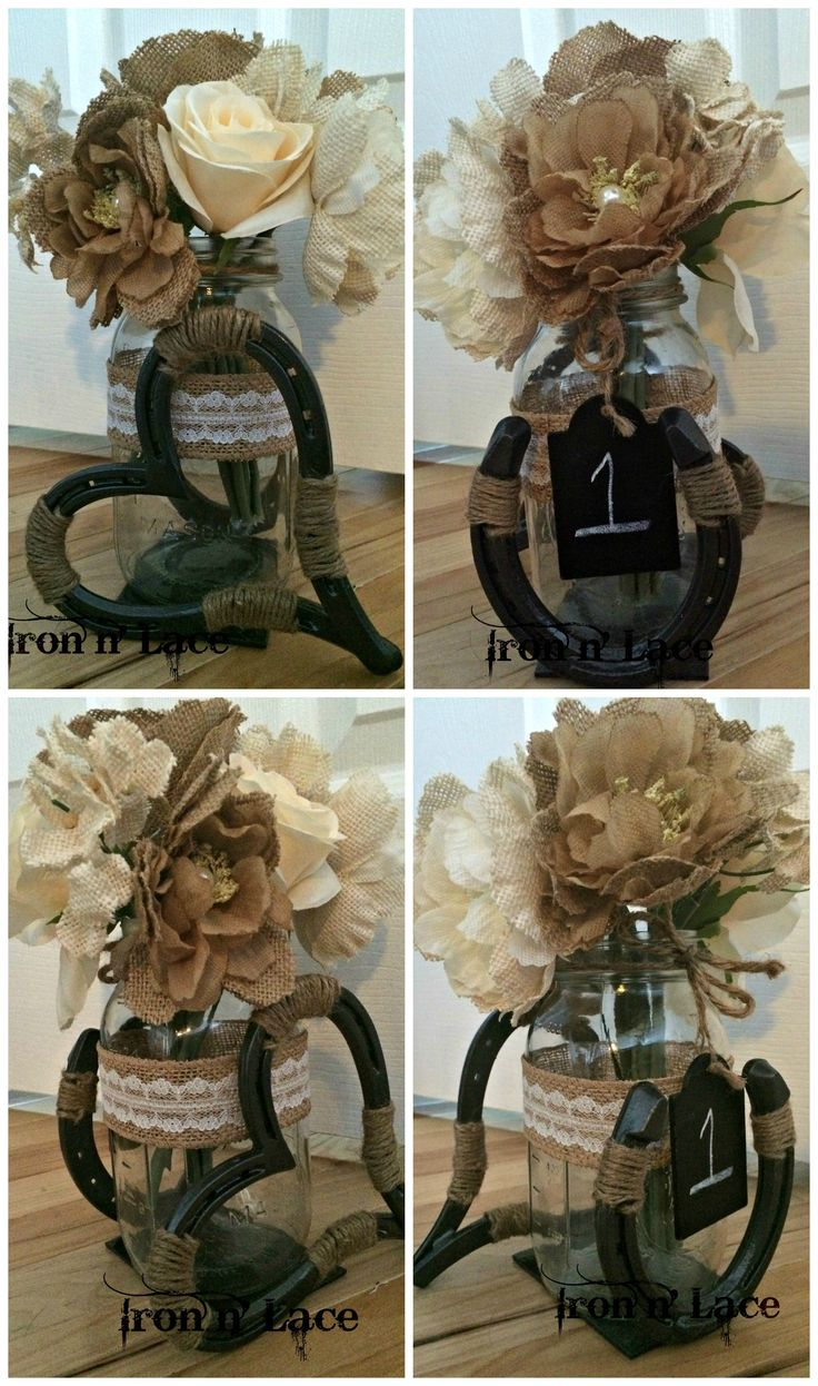 Lucky n' Love horse shoe wedding center  piece https://www.etsy.com/shop/Ironnlace1 http://www.facebook.com/ironnlace