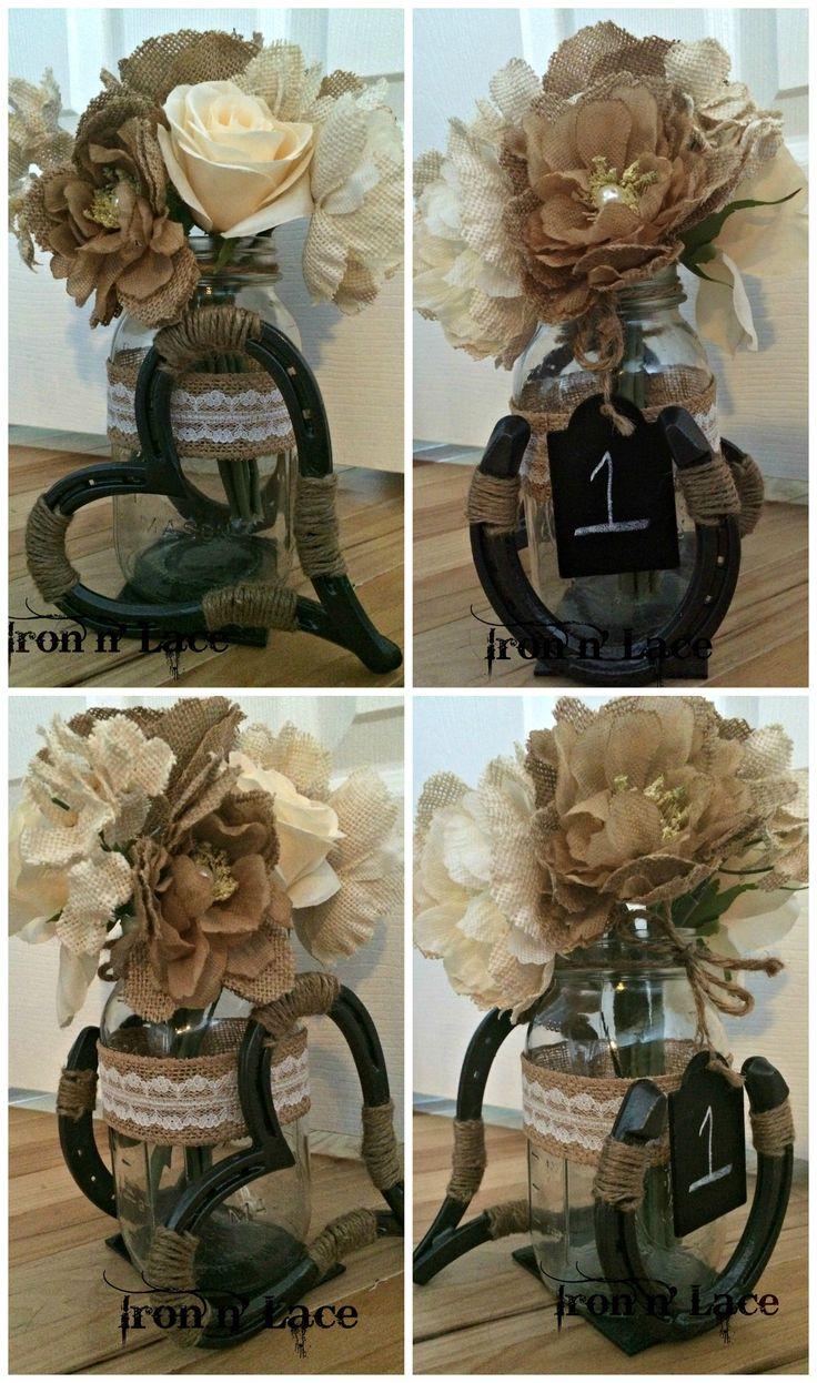 Lucky n' Love horse shoe wedding center  piece https://www.etsy.com/shop/Ironnlace1 http://www.facebook.com/ironnlace