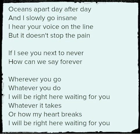 Right Here Waiting lyrics by Richard Marx, 4 meanings ...
