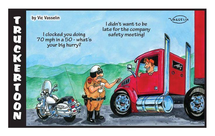 Trucker Toon Free Loadboard ReferATruck Funny Mother
