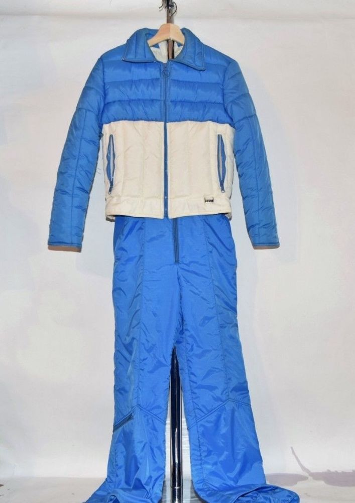 8638acb4a4d7 Vtg 80s White Stag Mountain Goat Womens 2 pc Ski Suit jacket   Bibs ...