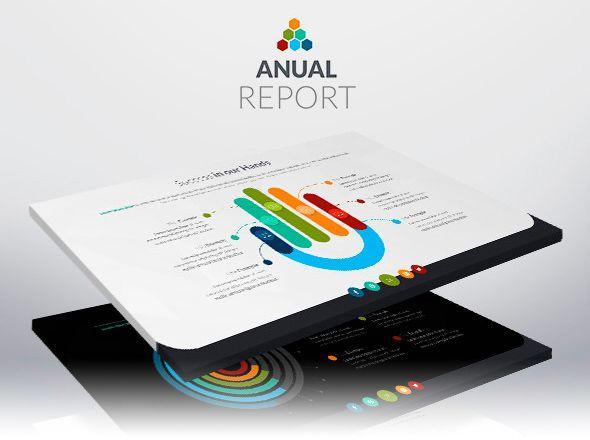 Cuentas anuales. Plantilla profesional para PowerPoint.