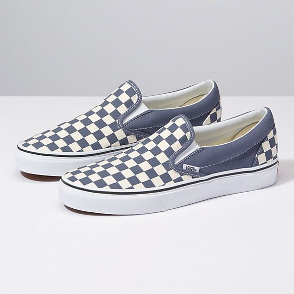 346a8114fc Vans Checkerboard Slip-On grisaille true white