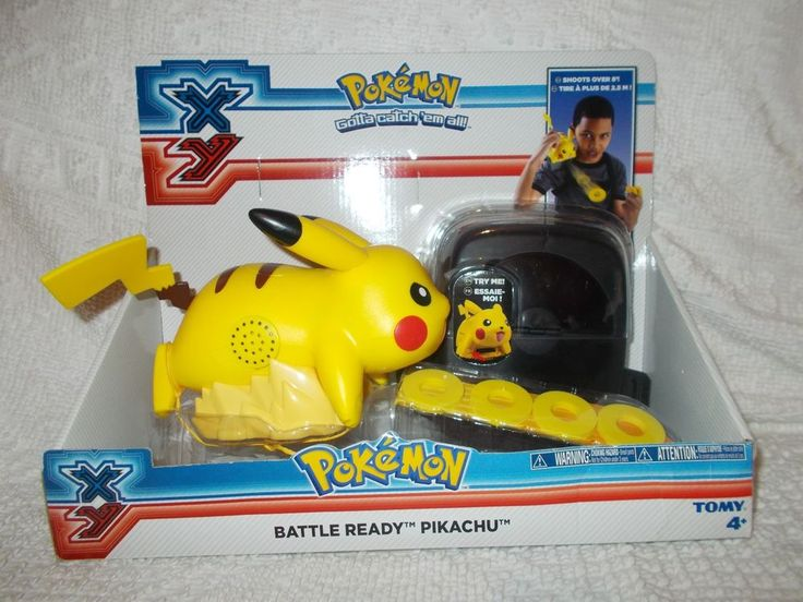 Pokemon XY Battle Ready Pikachu Talking Disk Launcher Shooter Tomy New In Box  #TOMY