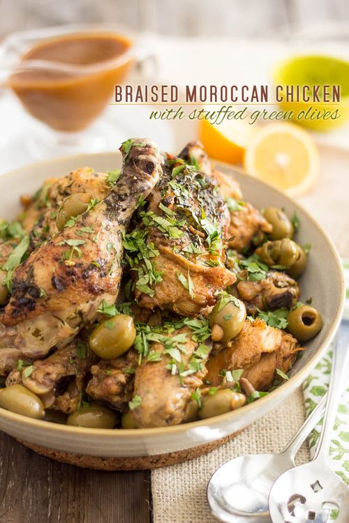 Chicken With Green Olives, Orange, And Sherry Recipe ...