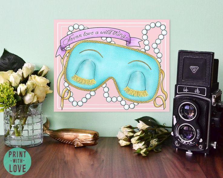 Breakfast at Tiffany's Holly Golightly Sleep Mask Banner