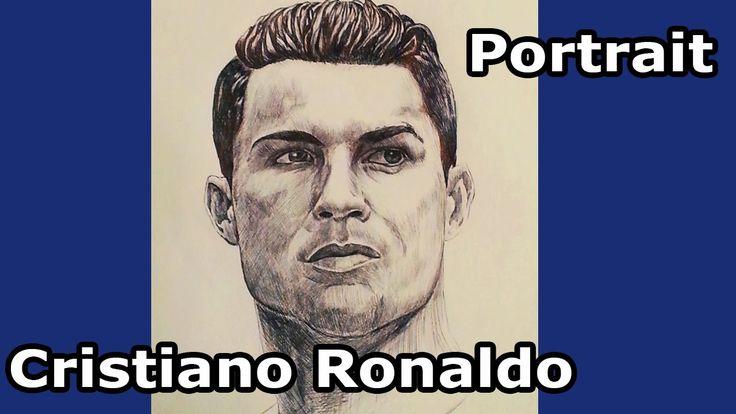 Drawing Cristiano Ronaldo.
