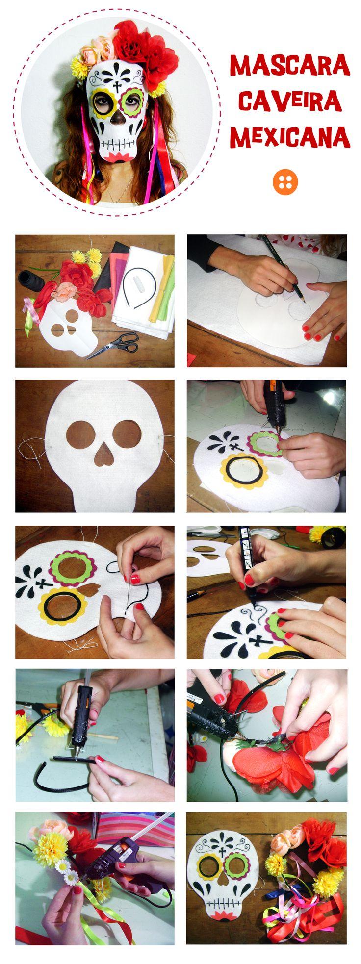 Máscara Mexicana - Dia de Los Muertos http://patoy.wordpress.com/2013/02/09/mascara-mexicana-faca-voce-mesmo-diy/