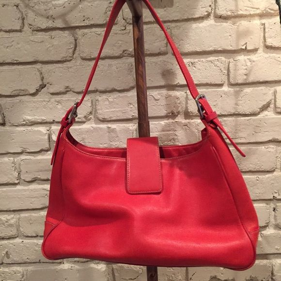 Coach red shoulder bag Used a handful of times. Coach leather handbag. Coach Bags Shoulder Bags