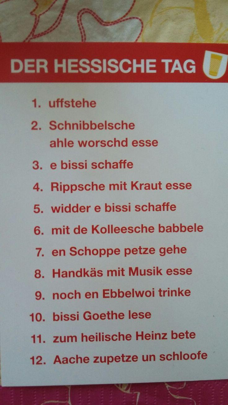 Typisch Hessische Wörter