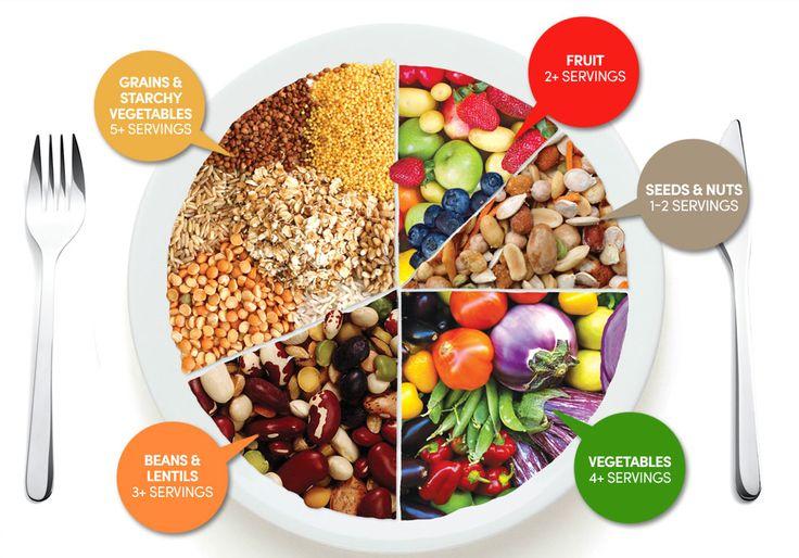 Suggested Vegan Food Plate by ChooseVeg | vegan foody