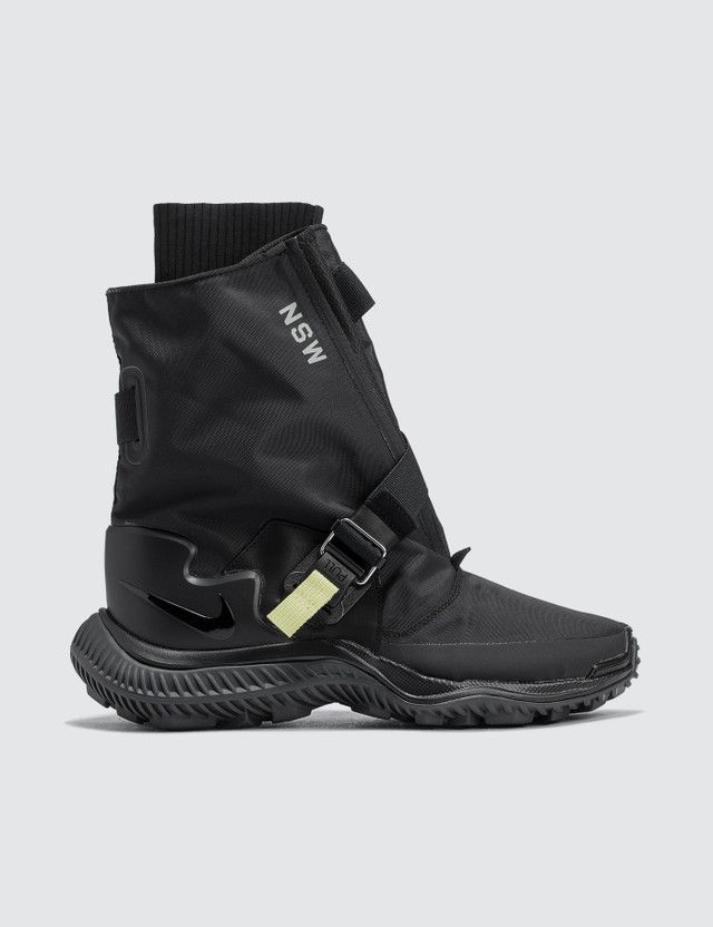 d9d92d969532 Shop Nike NSW Gaiter Boot (Black black-anthracite-pale Citron) for Women at  HBX Now. Free Shipping available.