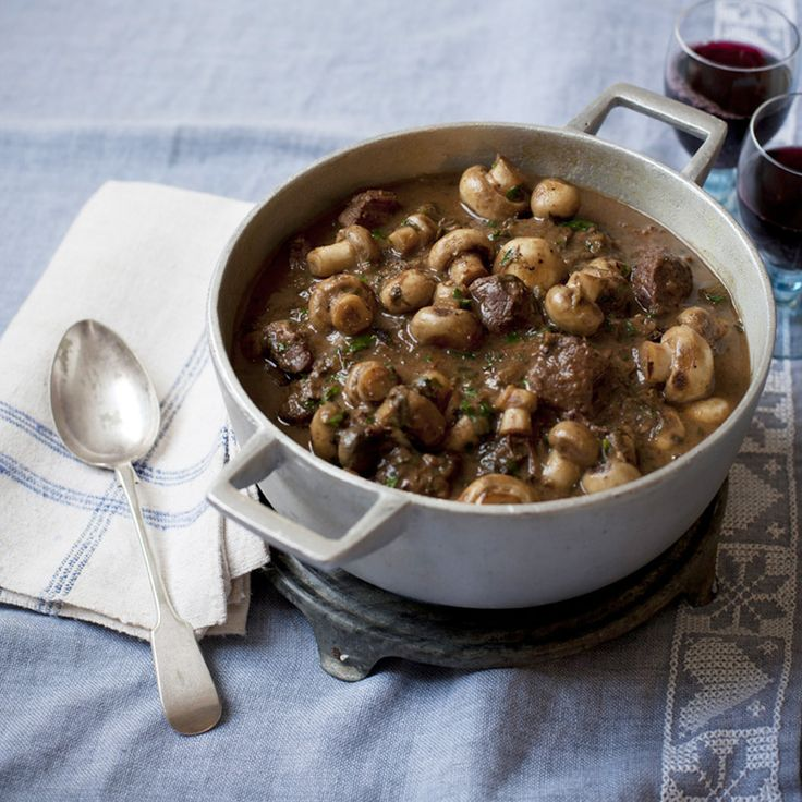 Rich venison casserole with button mushrooms recipe - Woman And Home