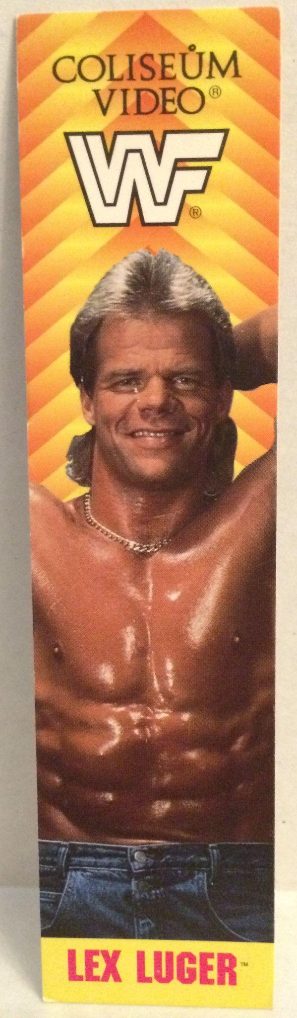 (TAS032602) - Coliseum Video WWF WWE Wrestling Book Mark - Lex Lugar