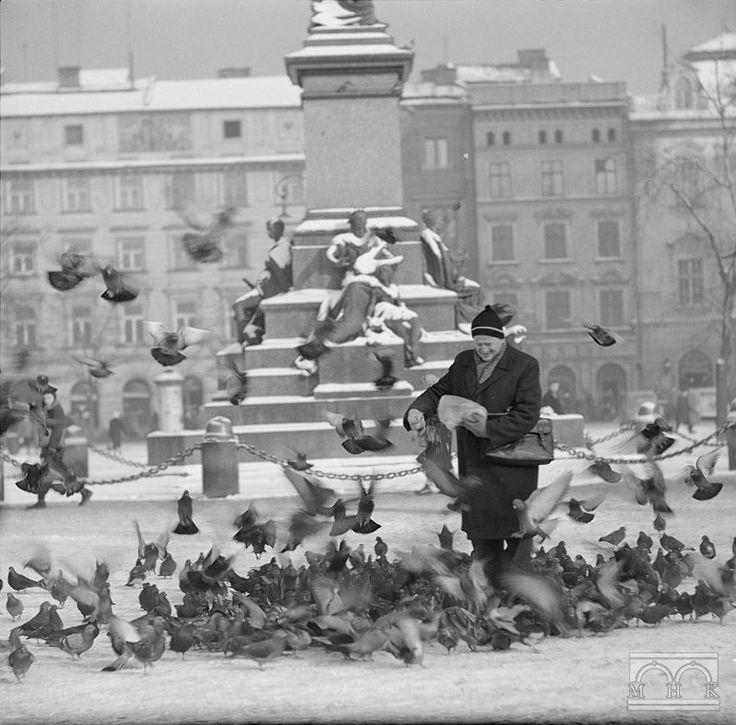 Rynek główny, Kraków, lata 70-siąte - Hermanowicz
