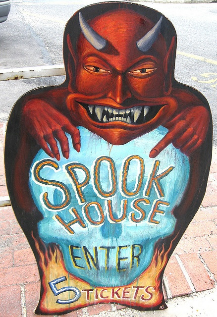 Spook House Entrance Sign  by KONGA7200, via Flickr
