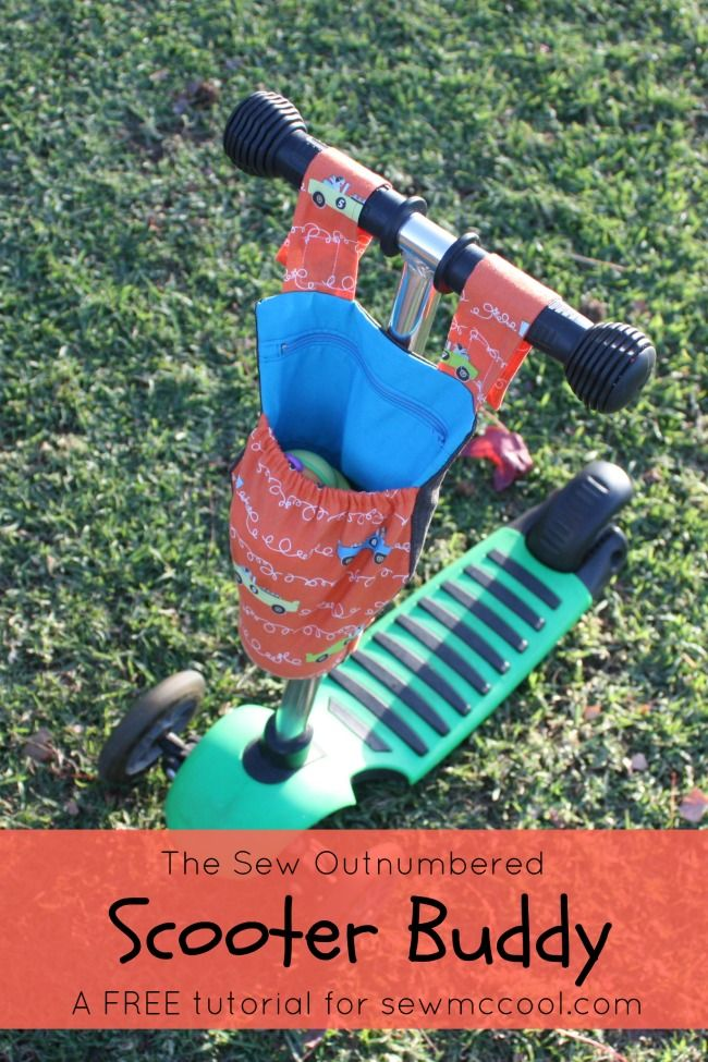 How to sew a scooter buddy pouch by SewOutnumbered for sewmccool.com